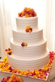 Wedding Wishes Cake Vibrant Orange Opera Wedding Cake