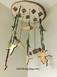Deer Mobile For Crib Duck Hunt Hardwood Baby Mobile Nursery Decor Duck Hunting