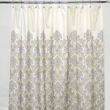 Polyester Shower Curtains And Ivory Damask Polyester Shower Curtain