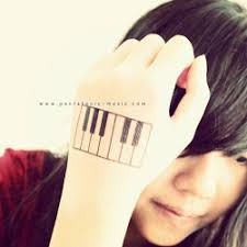 keyboard tattoo pentatonic music