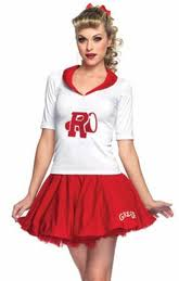 Halloween Cheerleader Costumes Kids 1950s Costumes Fifties Attire Candy Apple Costumes