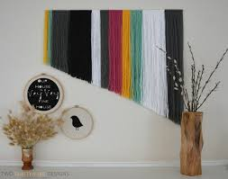 yarn wall art by two thirty five designs today u0027s craft and diy