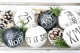 diy black and white ornaments behr paint