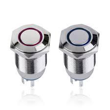 12 volt push button light switch thiên thần eye kim loại led chiếu sáng tạm thời 16 mét push button