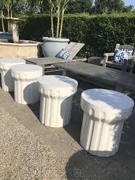 Concrete Side Table Outdoor Colfax Light Concrete Side Table Mecox Gardens