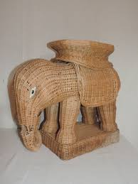 Elephant Decor For Living Room by Furniture Stunning Image Of Round White Wicker Elephant Table As