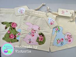 Shabby Chic Gift Bags by Blue Jelly Sew N So Victoria Rogers Shabby Chic Easter Bunny