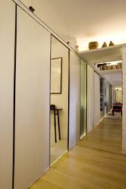 Laminate Floor On Walls Picturesque Wall Sliding Doors Interior Design With White Hall Way