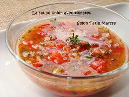 recette avec de cuisine la sauce chien avec tomate idéale pour le poisson