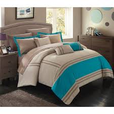 chic home georgette 10 piece bed in a bag comforter set walmart com