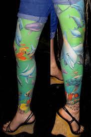 full leg amazing sea creature fish tattoo golfian com