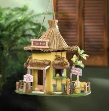 Tiki Hut Material Amazon Com Tiki Hut Hanging Birdhouse Garden U0026 Outdoor