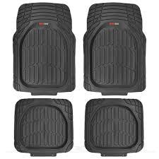nissan armada all weather floor mats motortrend deep dish rubber floor mats u0026amp cargo set black