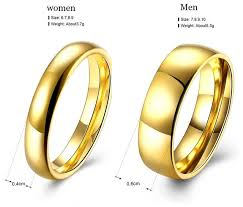 couple rings set images Online shop simple couple wedding rings pair gold color couple jpg