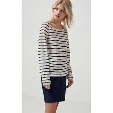 selected femme selected femme nive stripe jumper designer ombre blue knitwear
