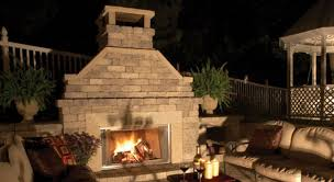 Backyard Fireplaces Ideas Decor Best Outdoor Patio Ideas With Winsome Unilock Fireplace