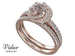 pink wedding rings images Very light pink diamond wedding ring set vidar jewelry unique jpg