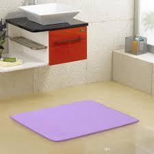 Coral Color Bathroom Rugs 50 80cm Bath Mat Rectangular Coral Fleece Bathroom Rug Water