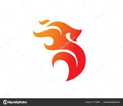 letter s fire logo template design vector emblem design concept