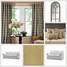 Black And White Buffalo Check Curtains Diane Reta The Blog It U0027s All In The Details