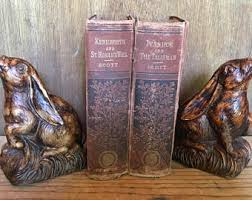 bunny bookends bunny bookend etsy