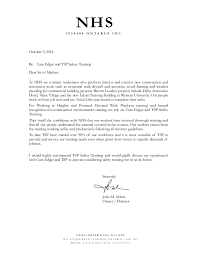 nhs letter of recommendation for tsp safety training