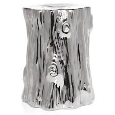 design dump afforadable find metallic stump side table