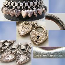 vintage heart bracelet images 1380 best puffy hearts vintage charms images jpg