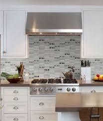 Gray Glass Tile Backsplash by Glass Tile Backsplash White Cabinets 30 Day Money Back Guarantee