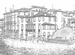 casa sul canal grande drawings of venice coloring pages
