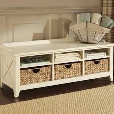 White Storage Bench Cool Entryway Shoe Storage Bench Come With White Cushion Seat