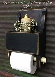 primitive country wood toilet paper holder toiletpaper