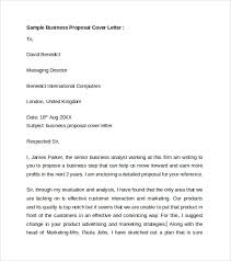 business cover letter 8 free samples examples format