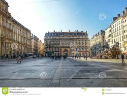 place de terreux lyon old town france editorial stock image