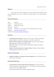 Computer Science Resume Objective Resume Format For Bsc Computer Science Freshers