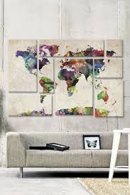 World Map Wood Wall Art by Wall Art Map Of The World