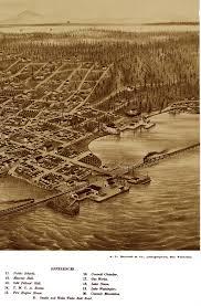 Maps Seattle Wa by Seattle Washington In 1878 Bird U0027s Eye View Aerial Map