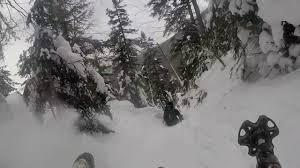 glissading mount washington in the white mountains of new