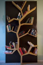 Building Solid Wood Bookshelf by Tree Bookshelf Diy Tree Bookshelf Shelves And Room