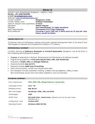 doc format resume normal resumes for freshers resume template exle