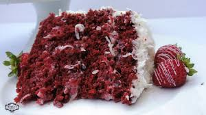 red velvet coconut strawberry cake a super moist cake recipe