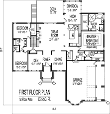 3 story house plans pleasant 2 story house floor plans with basement one and garage
