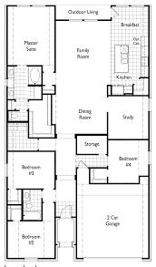 Ennis House Floor Plan by New Home Floorplan Dorchester In Houston Tx 77084