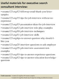 Executive Resume Samples by Sample Resume Of Executive Recruiter