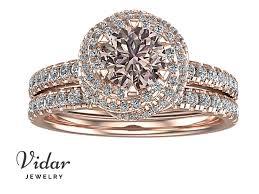 light pink engagement rings very light pink wedding ring set vidar jewelry unique