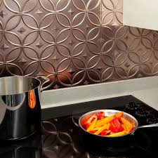 Fasade  In X  In Rings PVC Decorative Backsplash Panel In - Pvc backsplash