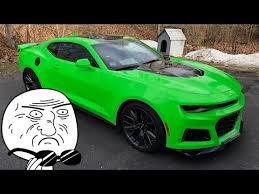 the krypton green 2017 camaro zl1 youtube