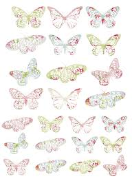 7 best images of free vintage butterfly printables free