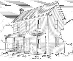 two story 16 u2032 x 32 u2033 virginia farmhouse house plans u2013 project small
