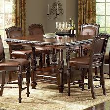 counter height table with chairs buy antoinette counter dining table set in cherry mahogany finish